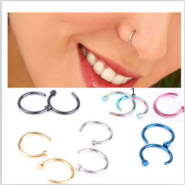 New Arrival Medical Titanium Nose Hoop Nose Rings Body Piercing
