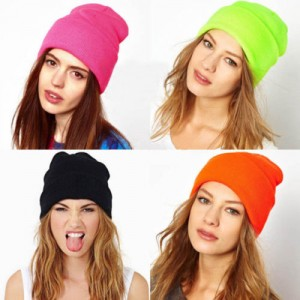 28 ColorsHot New Neon Knitted Men s Winter Hat Autumn Sport Beanie Unisex  Men s Warm Casual  59039 6a127dd93b57