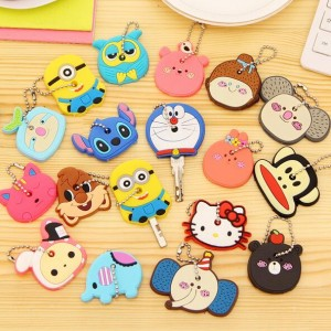 81278bf89 Despicable Me&bear Owl Hello Kitty Keychain Women Key Chains Key Rings  Silicone Key Cover Cartoon, #31847