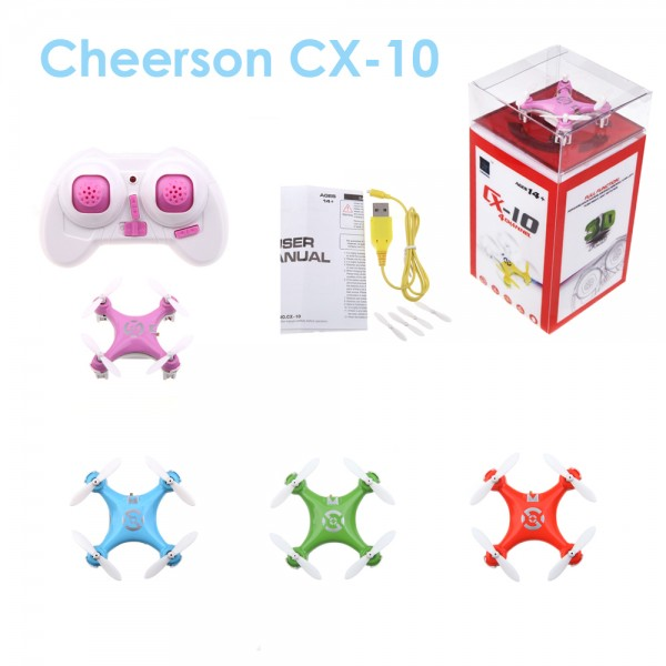 Cheerson Cx-10 Cx10 2.4G Remote Control Toys 4Ch 6Axis Rc Quadcopter Mini Rc Helicopters Radio #55402