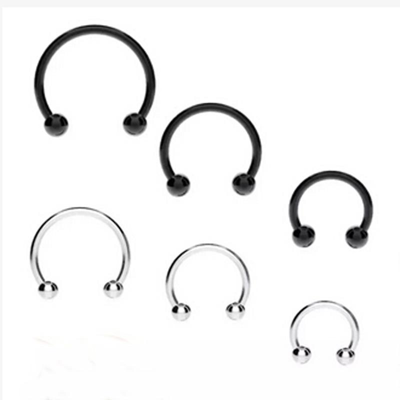 Creative Fake Septum Lip Ear Nose Ring Hoop No Piercing Women Men