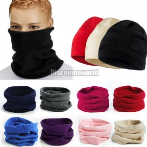 Fashion New Use Unisex Polar Fleece Snood Hat Neck Warmer Ski Wear Scarf  Beanie Balaclava Free  88907 35cf969f6d68