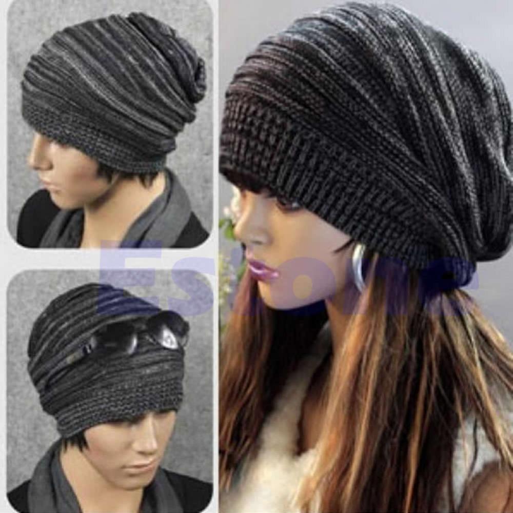 0532376b3d762 N94 New Unisex Mens Womens Knit Baggy Beanie Beret Hat Winter Warm  Oversized Ski  16355