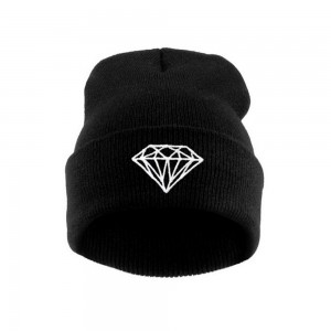 New Hip-Hop Men s Men Women Unisex Cap With Diamond Pattern Beanies Winter  Cotton Knit Wool  66965 201e10d0bc87
