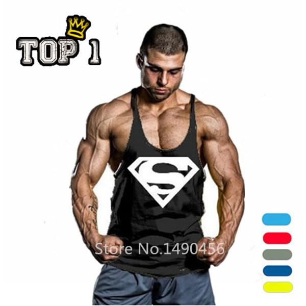 e6f00d1168d267 Superman Gym Singlets Mens Tank Tops Shirt
