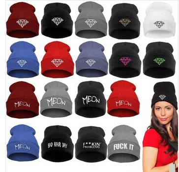 Beanie New Fashion Beanie Roll-Up Hem Caps Skullies Wool Knitted Hat Winter  Hat Men Women  45020 759557cca2b9